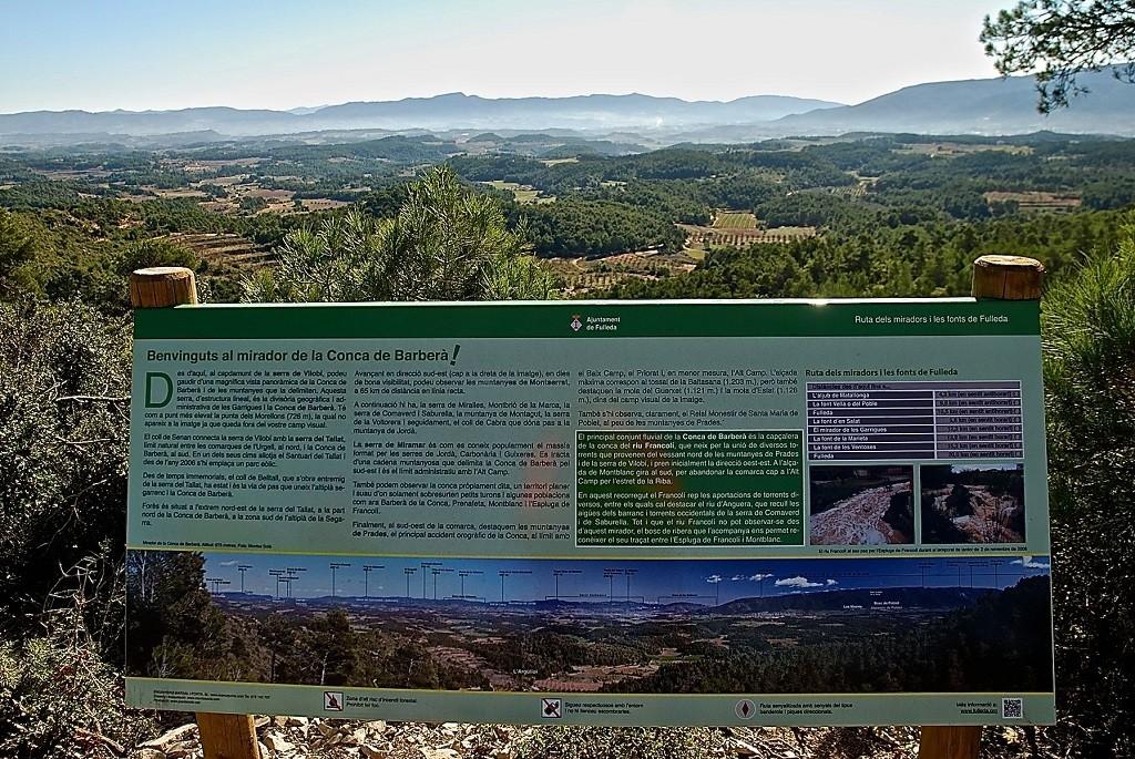 15.Fulleda Turisme. Ruta de les Fonts i els Miradors Conca del Barberà