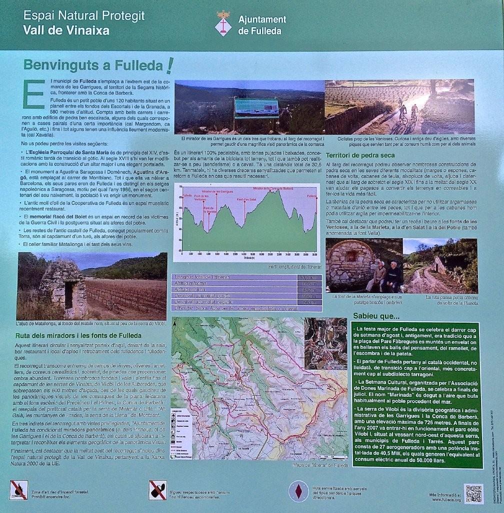 2.Fulleda Turisme. Ruta de les Fonts i els Miradors