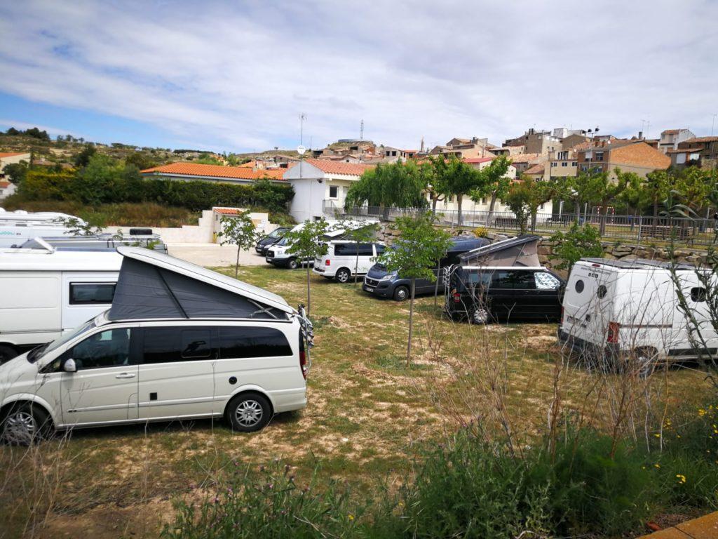 Parquin de autocaravanas de Fulleda, un pequeño y fantástico pueblo de Les Garrigues en Lleida